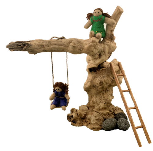 Coffee Wood Swing Set