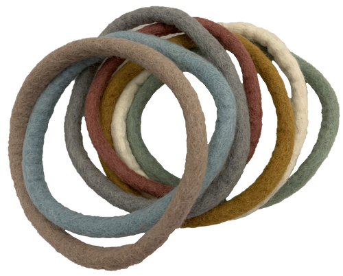7 Felted rings, super strong and perfect for open ended play