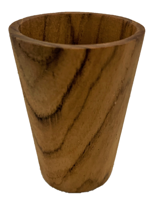 Teak wood Japanese cup. 4 pieces in a set.