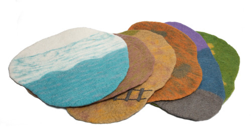 Set of 7 play scape mats