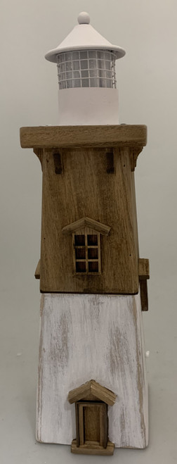 Light House Front view. This lighthouse stands 36cm high and is 10x10cm.