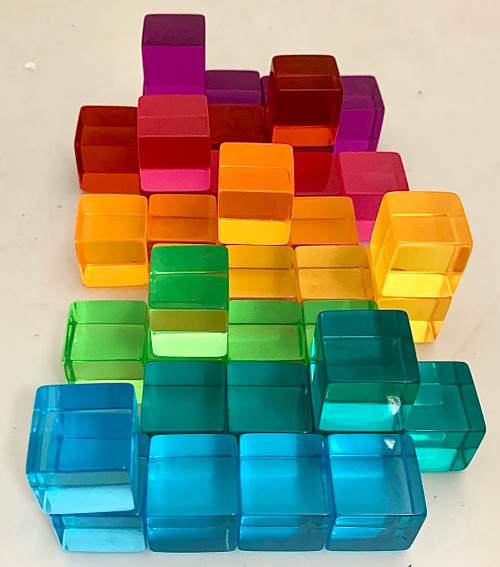 Set of 40 bright Papoose Cubes.