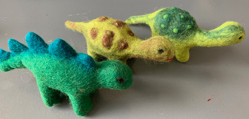 Our latest little dinosaurs. These are great match, size wise, with our set of 5 small dinosaurs.