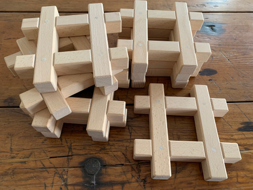 These wooden Hashtags (8 in a set) fit our bitcoins and cubes.