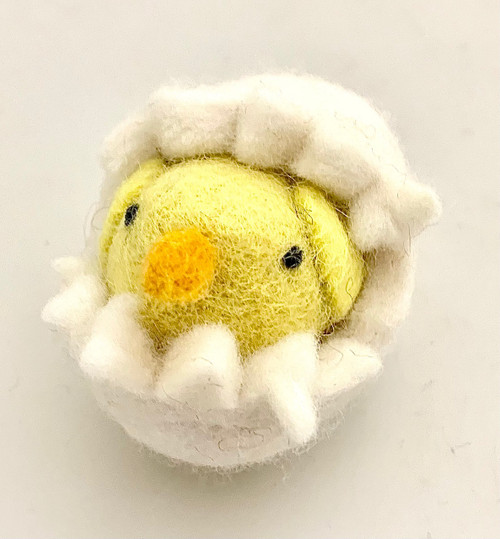Egg is 7cm long by 5.5cm high approximately.