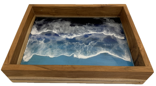 Waves Tray, a beautiful tray for setting up some watery invites to play. 40x30x7.5cm