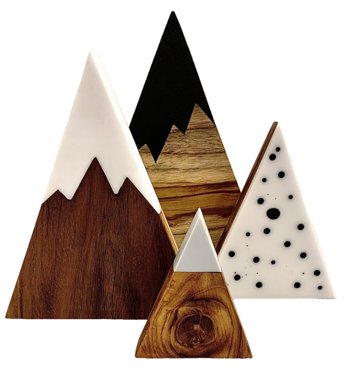 A beautiful addition to any decor, these wood and resin mountains add something special to Small World play. Of course, there are slight variations in the wood and resin as this is a hand made product from natural materials.