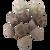 Winter Rocks, set 10 pieces