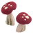 These hollow stemmed mushrooms are sold in 6's and are about 12cm high.