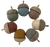 Earth Acorns, one each of the 7 Earth colours.