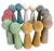 The set has four each of the 7 Earth coloured wooden gnomes. Only half a set is shown here.