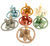 Acorns, felt balls, felt rings, dwellers, felt squares and felt gnomes, each one of these in all 7 colours.