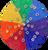 Rainbow Bitcoins and Bitcoin Windows, on our Rainbow mat (for illustration purposes).