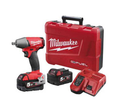 Milwaukee M18 FUEL Cordless 18v Lithium Ion 1/2 Impact Wrench With Pin Detent Kit #M18FIWP12-502C