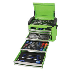 Kincrome Contour 236pce 8 Drawer 1/4, 3/8 and 1/2 Square Drive Imperial and Metric Cart Kit - Green #K1507G
