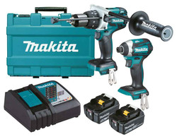 Makita 18V Lithium-Ion Brushless 2pce Combo Kit - DLX2176T