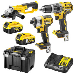 Dewalt 18V5.0Ah Cordless XR Lithium Ion 3pce Brushless Combo Kit BONUS - DCZ391P2-XE
