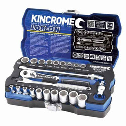 Kincrome LOK-ON 24 Piece 1/4 Square Drive Socket Set - K27001
