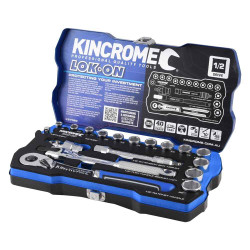 Kincrome LOK-ON 18pce 1/2 Square Drive Socket Set #K27020