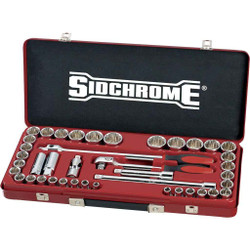 Sidchrome 41pce Combo Socket Set 1/2 - Metric and AF - SCMT14104