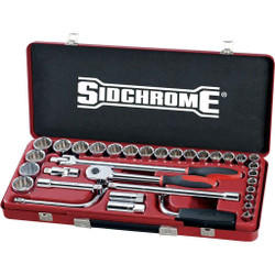 Sidchrome 33pce Socket Set 1/2 Metric - SCMT14210