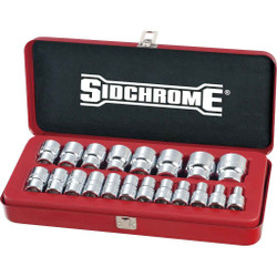 Sidchrome 20pce Socket Set 1/2 Metric - SCMT14214