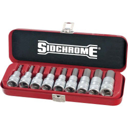 Sidchrome 9pce Inhex Socket Set 1/2 - SCMT14465