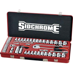 Sidchrome 51pce Combo Socket Set 1/4 and 1/2 - Metric/AF - SCMT19135