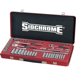 Sidchrome 57pce Combo Socket Set 1/4 and 3/8 - Metric - SCMT19230