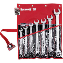 Sidchrome 7pce Metric Ring and Open-End Spanner Set - SCMT22209
