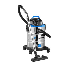 Vacmaster 30ltr Stainless Steel Tank Wet/Dry Vacuum 1500W + 10pce Accessory Kit - VMVQ1530SFDC