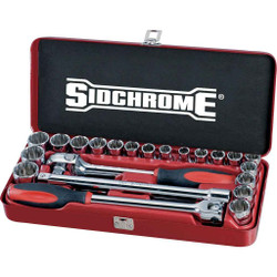 Sidchrome 24pce Socket Set 1/2- Metric and AF # SCMT14110