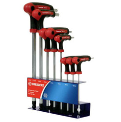 Crescent 8pce Ball Point T-Handle Hex Key Set #CHKT8