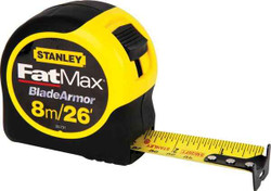 Stanley 8m26 FatMax Tape Rules with Blade Armor Coating #33.731