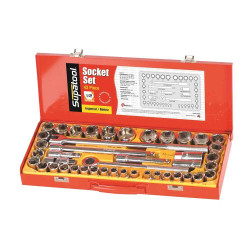 Supatool 43pce Metric and Imperial 1/2 Dr Socket Set - S2043