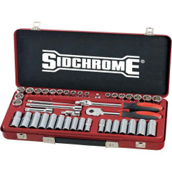 Sidchrome 43pce 3/8 Socket Set - Metric and AF - SCMT13107