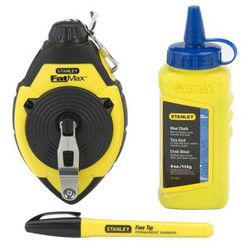 Stanley 30m/100 FatMax Chalk Line Reel and Chalk Set #47-681