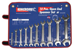 Kincrome 10pce Imperial AF Open End Spanner Set #K3041