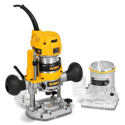 Dewalt 1/4 Premium Plunge and Fixed Base Combi Router BONUS # D26204K-XE