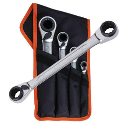 Bahco 4pce Reversible Ratchet Spanner Set - S4RM/4T