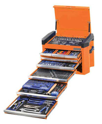 Kincrome Contour 328pce 8 Drawer 1/4, 3/8 and 1/2 Drive Flame Orange Chest #K1502O