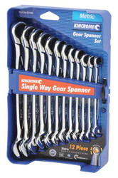 Kincrome 12pce Metric Combination Single Way Gear Spanner Set #K3102