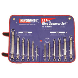 Kincrome 12pce AF and Metric Ring Spanner Set #K3052