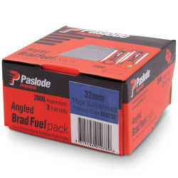 Paslode 32mm 16 Gauge Galvanised Angled Brad Nails with Fuel Pack of 2000 - B20732