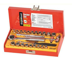 Supatool 25pce Imperial and Metric 1/4 Square Drive Socket Set #S2026