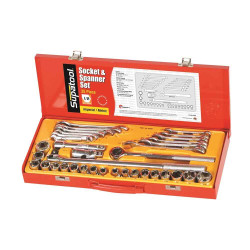 Supatool 35pce 1/2 Square Drive Imperial and Metric Socket and Spanner Set #S2035
