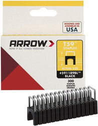 Arrow 8mm Black T59 Insulated Staples - 300 Pack # 591189BL