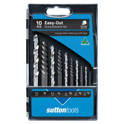 Sutton Tools 10pce Screw Extractor Easy-Out Set 371799020 - S20