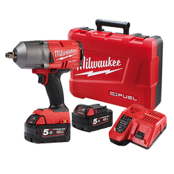 Milwaukee M18 FUEL Brushless 18V Cordless High Torque 1/2 Impact Wrench Kit - M18FHIWF12-502C
