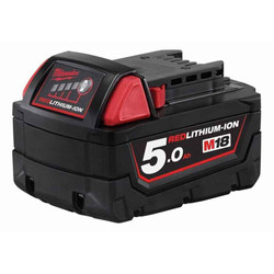 Milwaukee 18V Red Lithium 5.0Ah Battery - M18B5